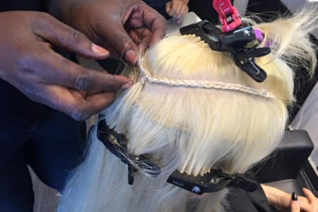 Treccia extension a tessitura